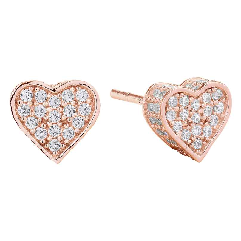 Sif Jakobs Jewellery SJ-E2185-CZ(RG) Heart Earrings Amore Rose 5710698046055