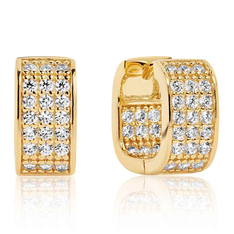 Sif Jakobs Jewellery SJ-E1063-CZ(YG) Damen-Ohrringe Matera Silber Vergoldet 5710698055446