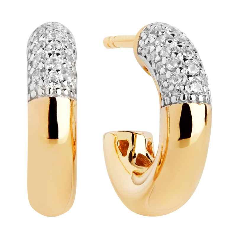Sif Jakobs Jewellery SJ-E2998-CZ-YG Creolen Cannara Piccolo Vergoldet 5710698068309