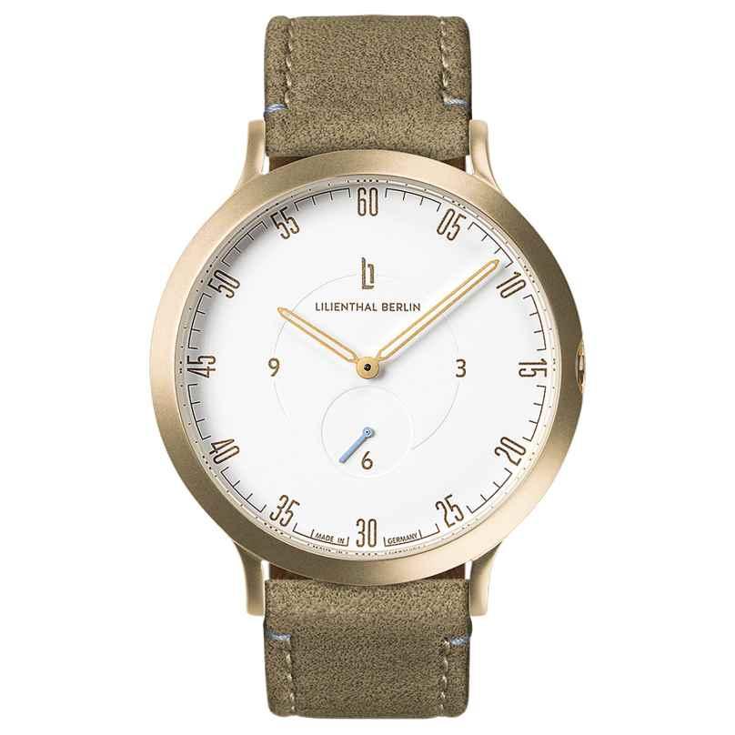 Lilienthal Berlin L01-102-B021B Armbanduhr L1 gold/weiß/khaki 4260466364924