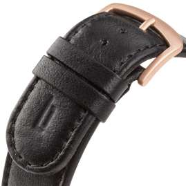 Lilienthal Berlin B004DZ Leather Strap black/rose gold