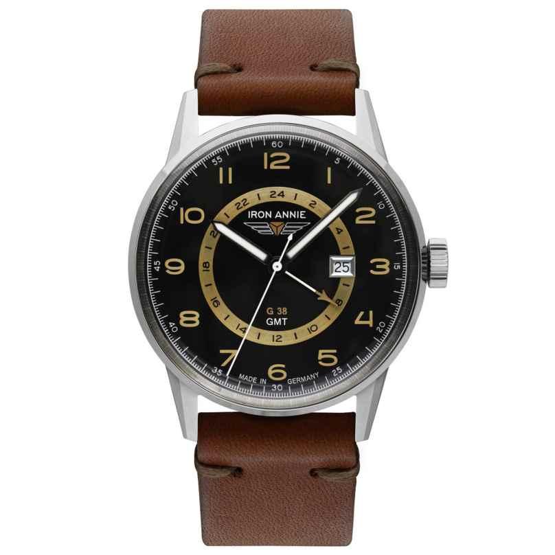 Iron Annie 5342-2 Herrenuhr G38 GMT mit braunem Lederband 4041338534221