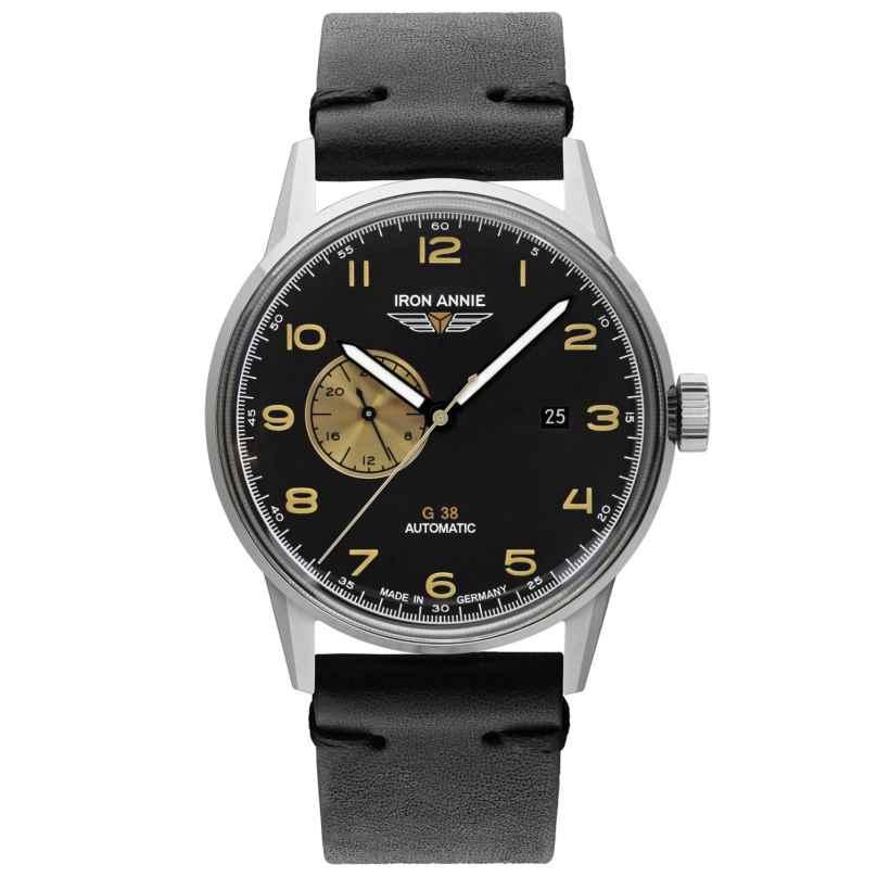 Iron Annie 5368-2 Herrenuhr G38 Automatik Lederband schwarz 4041338536829
