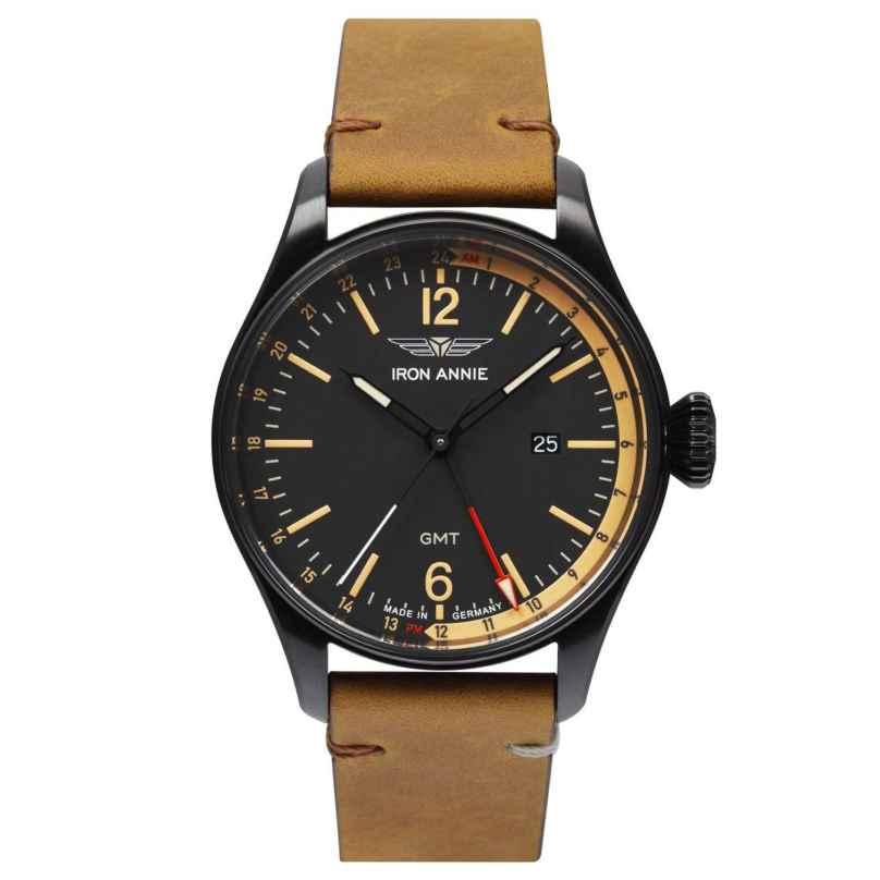 Iron Annie 5148-2 Herrenuhr Flight Control GMT Schwarz/Braun 4041338514827