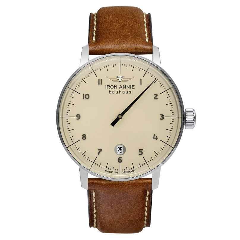 Iron Annie 5042-5 Men's Wristwatch Bauhaus 1 Monotimer Brown 4041338504255
