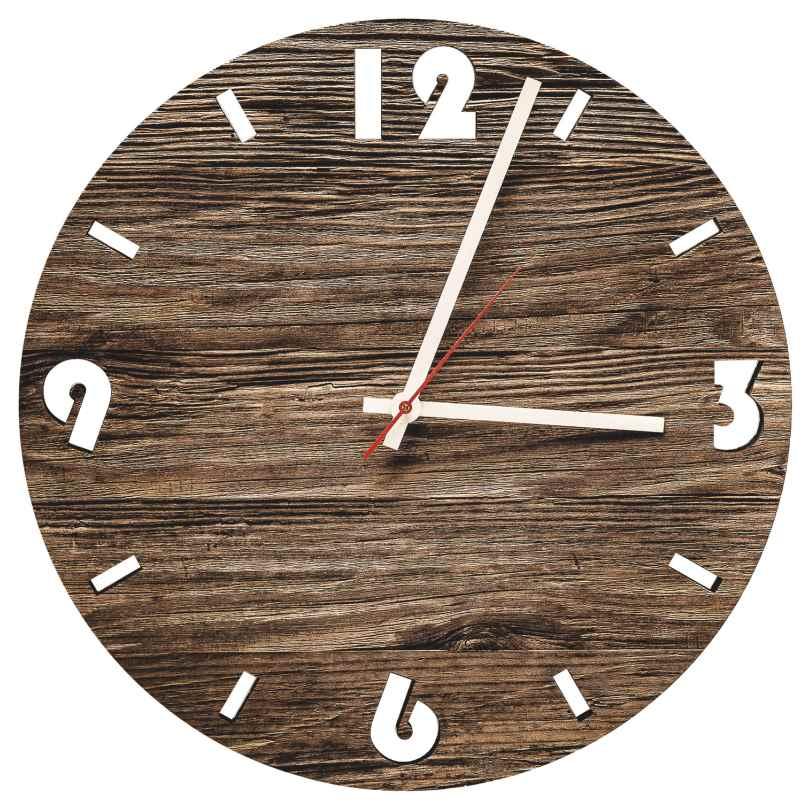 Huamet U6001 Holz-Wanduhr Altholz Rund 4260497085829