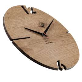 Huamet CH50-A-00 Wall Clock Puhr Oak Wood