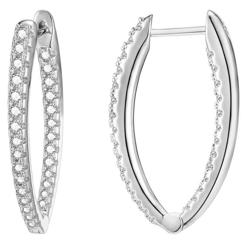 IUN Silver Couture AE007-WW Ohrringe Silber 925 Zirkonia 30 mm 4260626560012