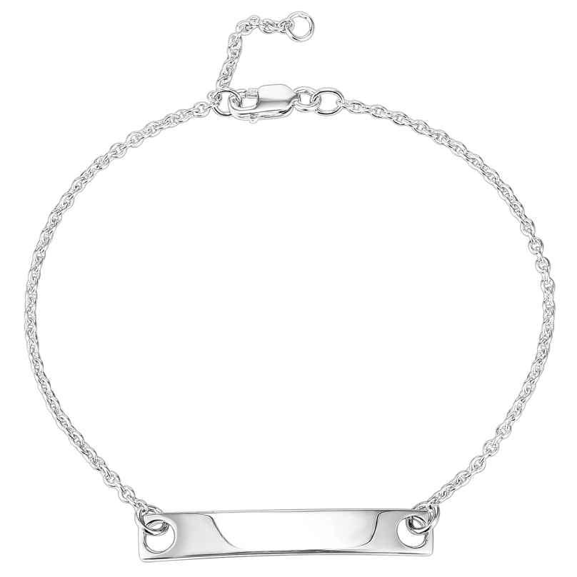 IUN Silver Couture AB003-WW Armband mit Gravurplatte Silber 925 4260626560364