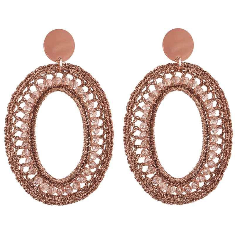Lott Gioielli CESI125-R28592 Ladies´ Earrings Silk Oval L 8720095015766
