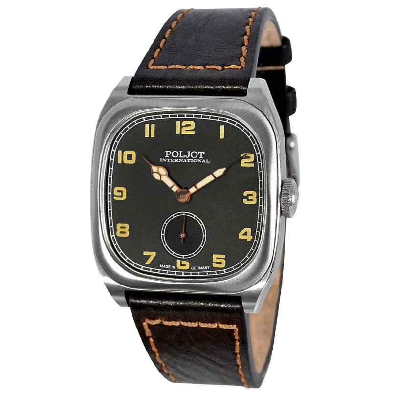Poljot International 2760.1000113 Herrenuhr Handaufzug Bolshoi Vintage Schwarz 4260479166904