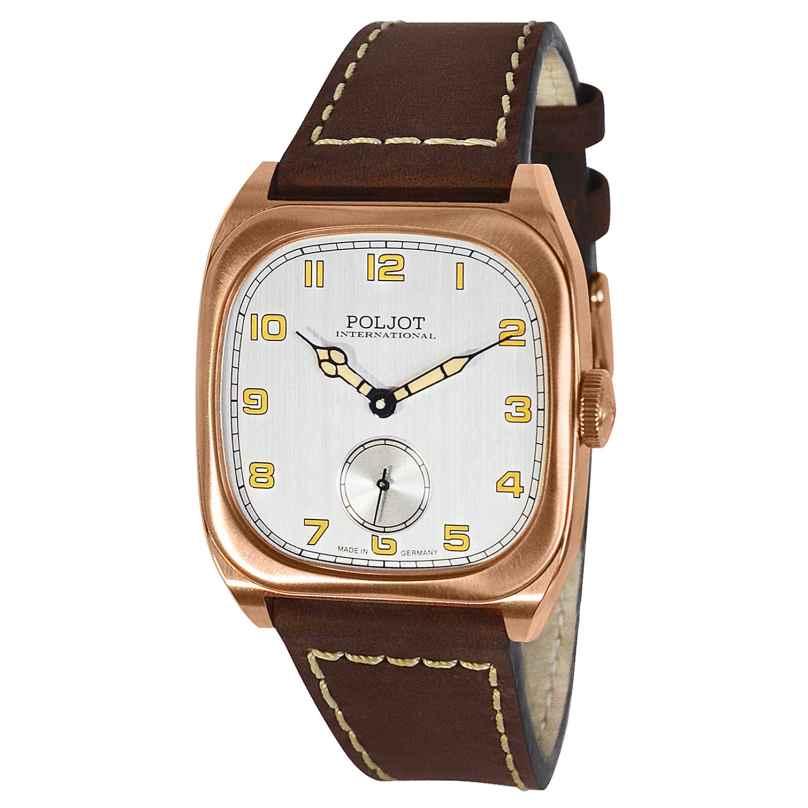 Poljot International 2760.1001611 Herrenuhr Handaufzug Bolshoi Vintage Braun/Roségoldfarben 4260479166881