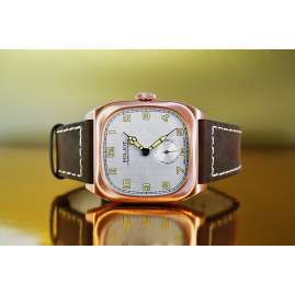 Poljot International 2760.1001611 Herrenuhr Handaufzug Bolshoi Vintage Braun/Roségoldfarben
