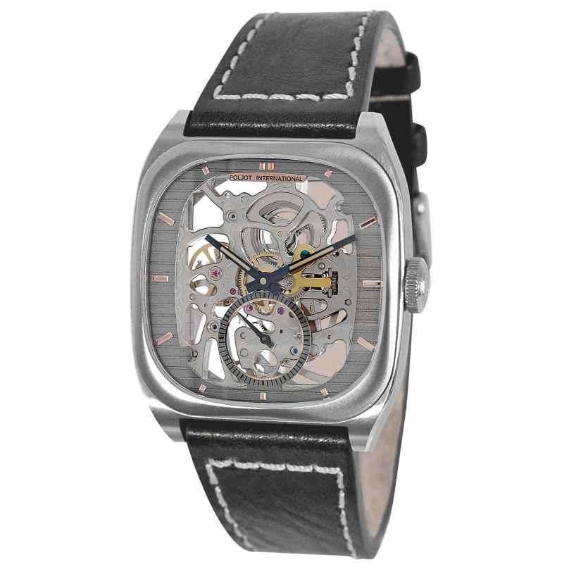 Poljot International 2761.1000153 Herren-Armbanduhr Handaufzug Bolshoi Onegin Dunkelgrau 4260479166966