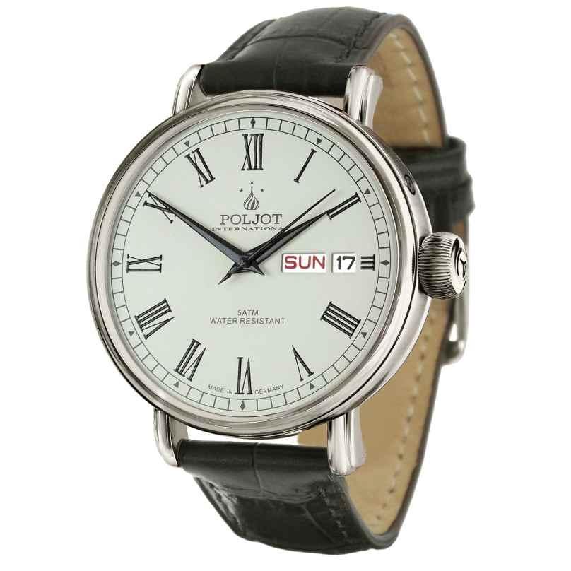 Poljot International 2427.1540911 Automatic Men's Watch New Jaroslavl Black/Steel 4260479165938