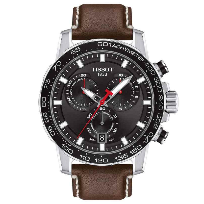 Tissot T125.617.16.051.01 Herrenuhr Supersport Chrono mit braunem Lederband 7611608294482