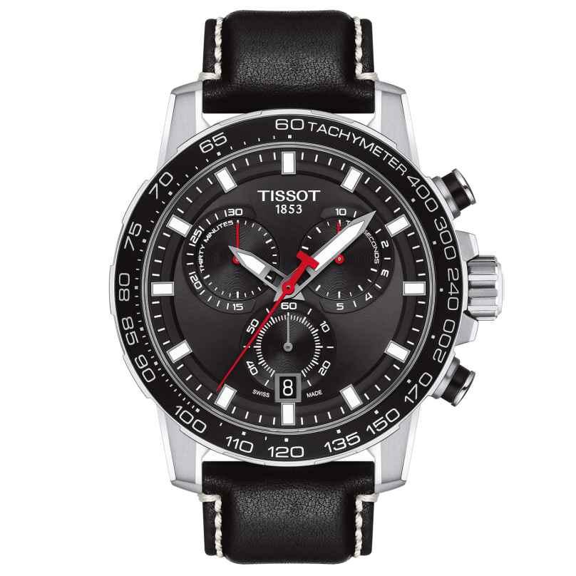 Tissot T125.617.16.051.00 Herrenuhr Supersport Chrono Lederband schwarz 7611608294475