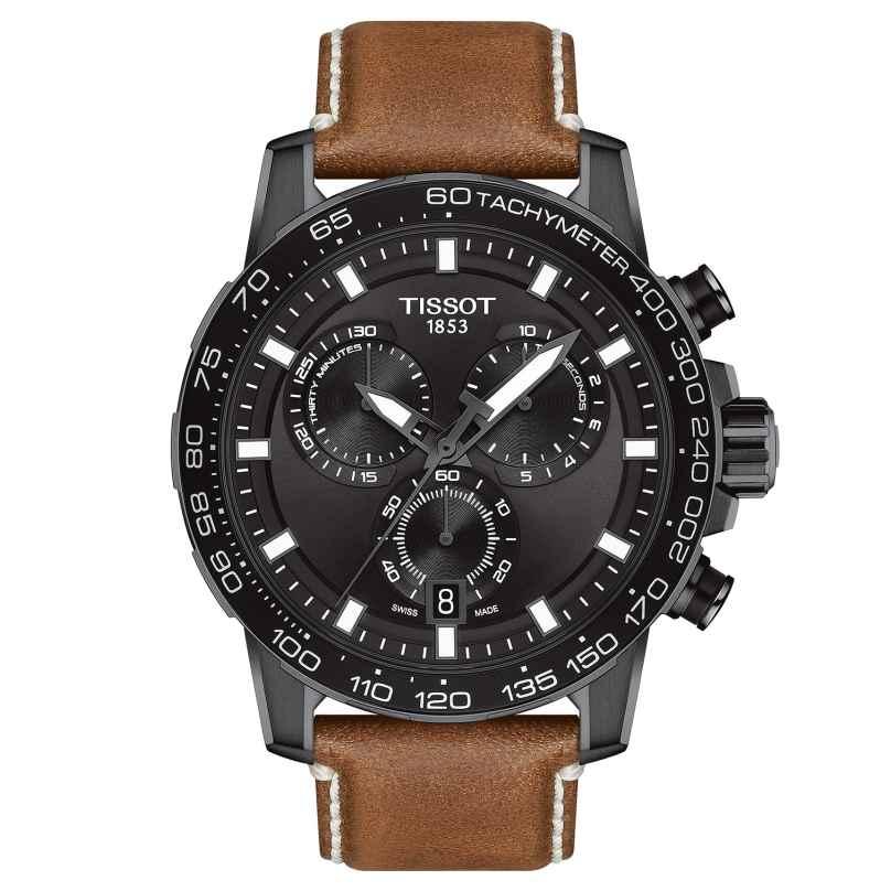 Tissot T125.617.36.051.01 Men's Watch Supersport Chrono Brown Leather Strap 7611608294499
