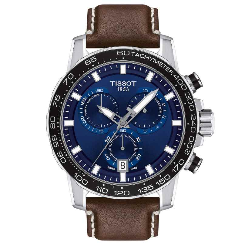 Tissot T125.617.16.041.00 Herrenuhr Supersport Chrono Lederband Braun 7611608294505