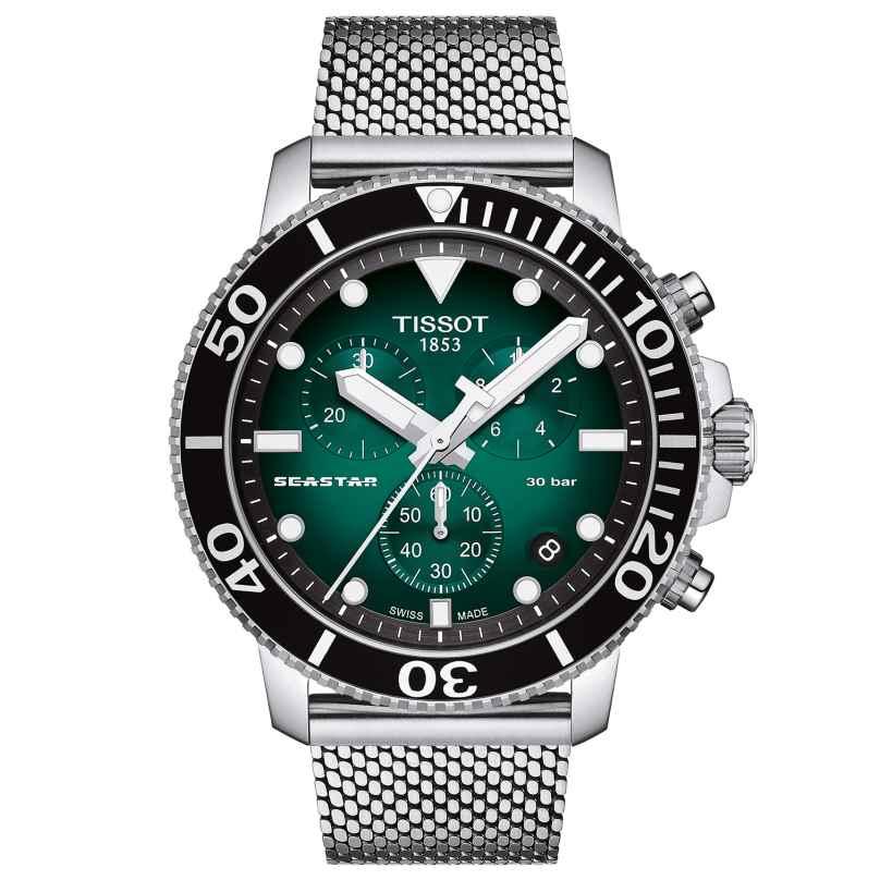 Tissot T120.417.11.091.00 Herren-Taucheruhr Chronograph Seastar 1000 Grün 7611608294949