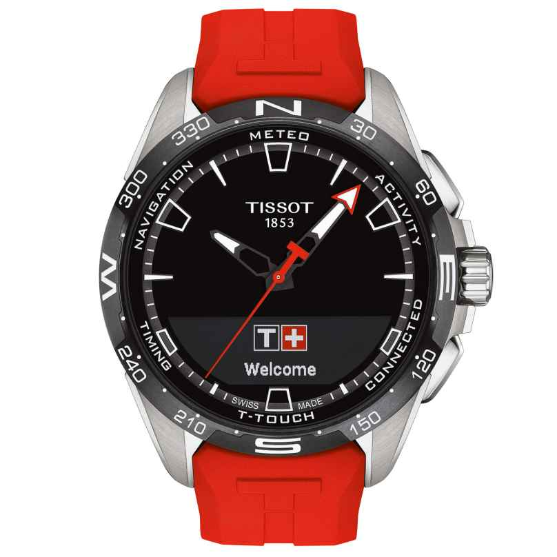 Tissot T121.420.47.051.01 Herrenuhr T-Touch Connect Solar Rot 7611608293584