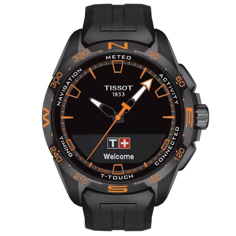 Tissot T121.420.47.051.04 Herrenuhr T-Touch Connect Solar Schwarz/Orange 7611608295014