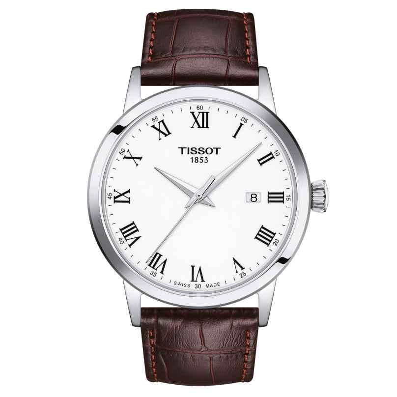 Tissot T129.410.16.013.00 Herren-Armbanduhr Classic Dream mit Lederband 7611608295410