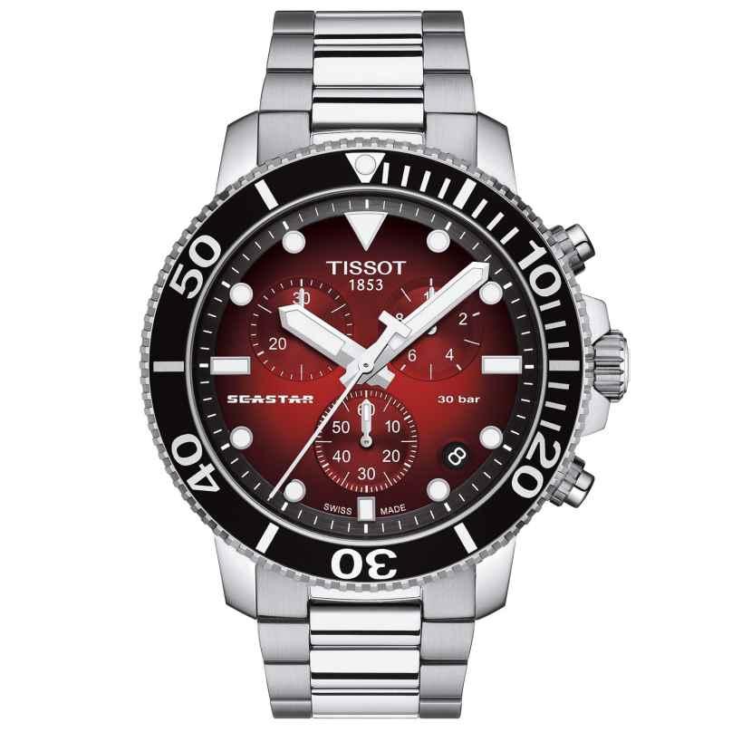 Tissot T120.417.11.421.00 Men's Diver Watch Chronograph Seastar 1000 Red 7611608298381