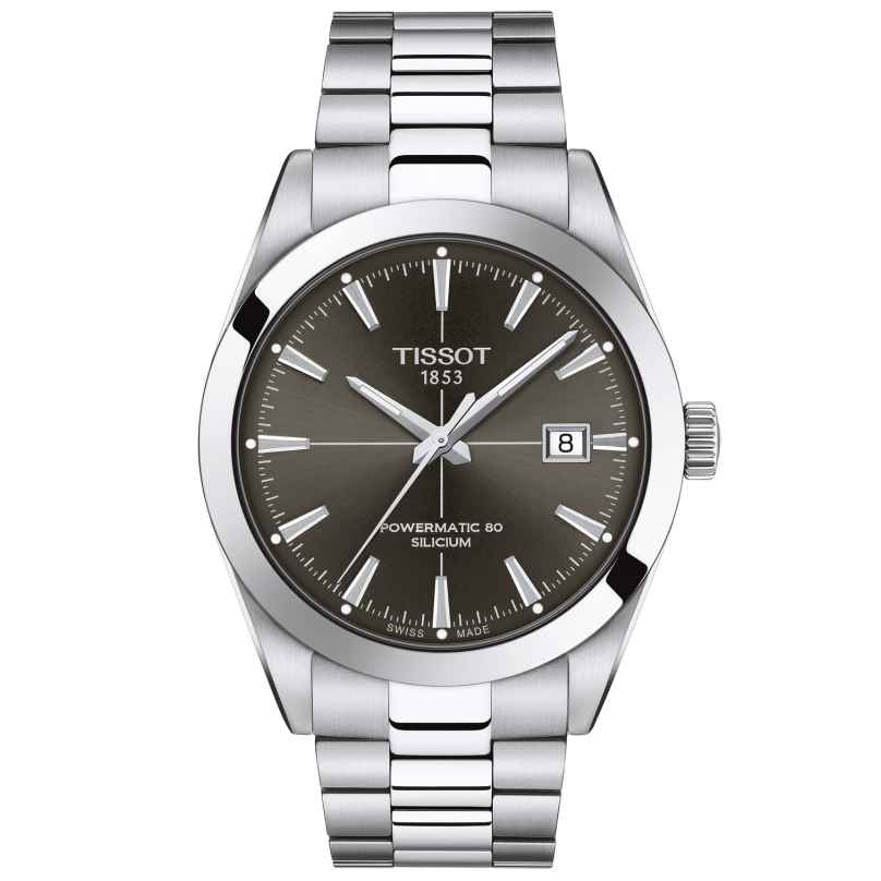Tissot T127.407.11.061.01 Men's Wristwatch Gentleman Powermatic 80 Silicon 7611608298879