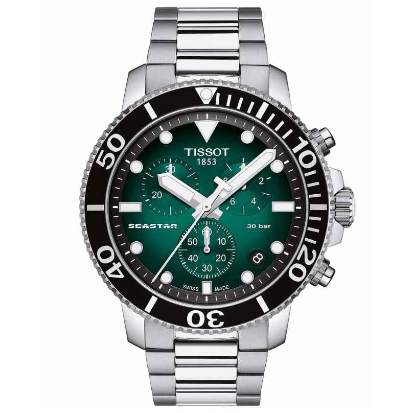 Tissot T120.417.11.091.01 Men's Diver Watch Chronograph Seastar 1000 Green 7611608298374