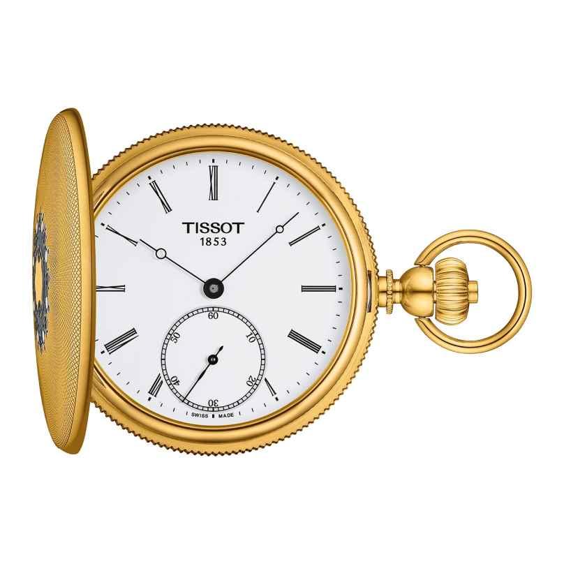 Tissot T867.405.39.013.00 Pocket Watch Savonette Hand Winding Gold Tone 7611608299562