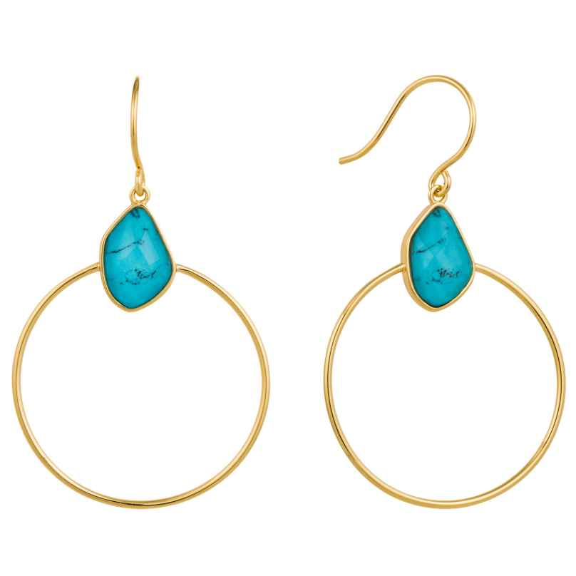 Ania Haie E014-02G Damen-Ohrringe Turquoise Front 5052469000324