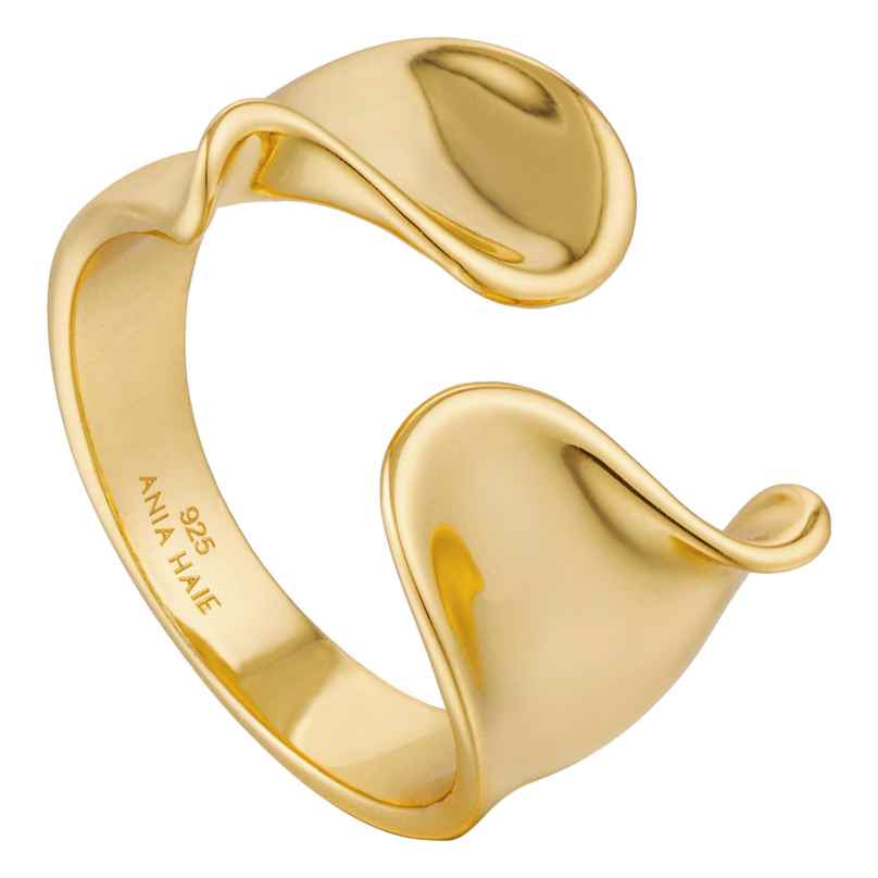 Ania Haie R012-03G Damen-Ring Twist Wide 5052469205859