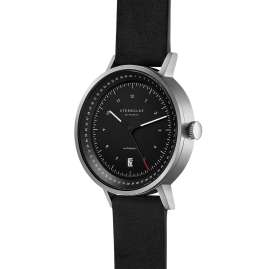 Sternglas STF11/300 Men's Watch Automatic Topograph 2.0 Black Leather Strap