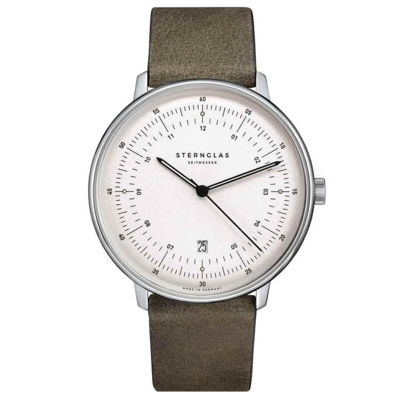 Sternglas SHH41/314 Men's Watch Quartz Hamburg Nato Green 4260493154208