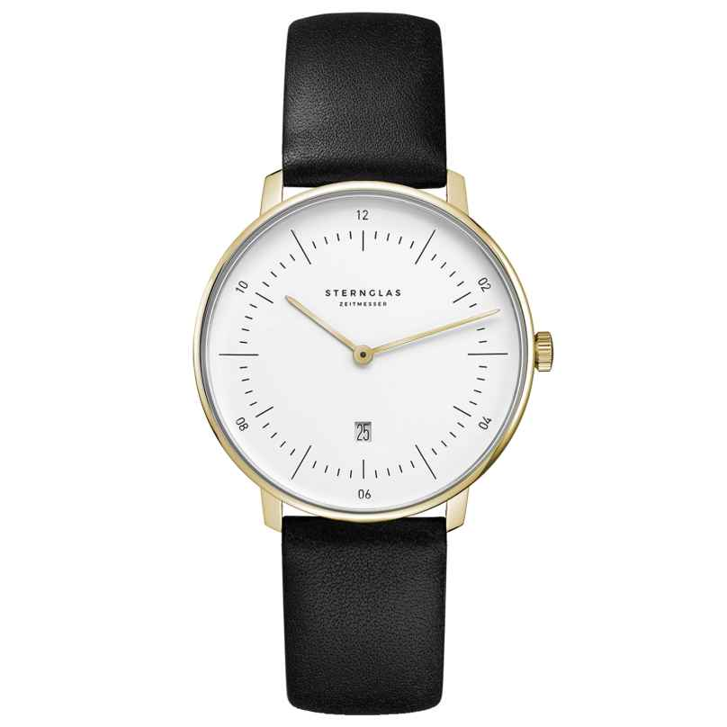 Sternglas SND02/606 Women's Watch Naos XS with Leather Strap black / gold tone 4260493154512
