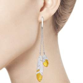 Sokolov 94022707 Ladies' Earrings Feathers large