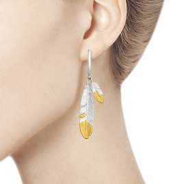 Sokolov 94022703 Drop Earrings Feathers