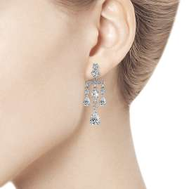 trendor 94023564-2 Ladies' Drop Earrings Silver