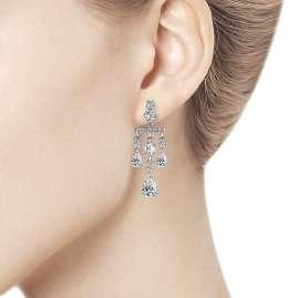 trendor 94023564-2 Damen-Ohrringe Ohrhänger aus Silber