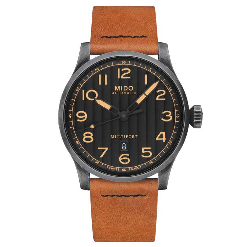 Mido M032.607.36.050.99 Mens Watch Multifort Escape Horween Special Edition 7612330134862