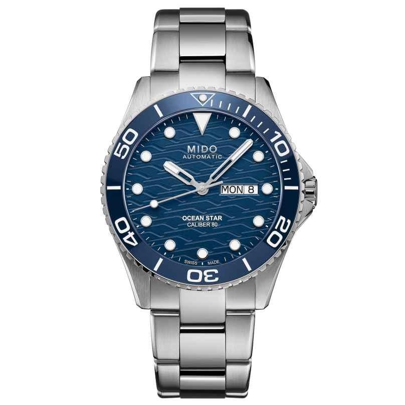 Mido M042.430.11.041.00 Herren Automatik-Taucheruhr Ocean Star 200C Blau 7612330139317