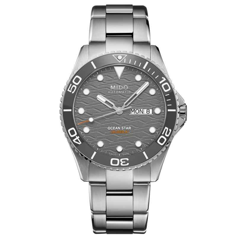 Mido M042.430.11.081.00 Automatik Herren-Taucheruhr Ocean Star 200C Grau 7612330139324