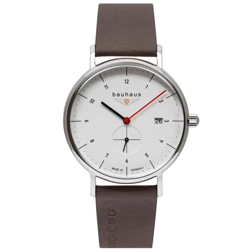 Bauhaus 2130-1 Herren-Armbanduhr Weiß 4041338213010