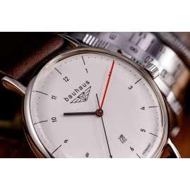 Bauhaus 2140-1 Herrenuhr Silbergrau