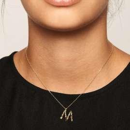 P D Paola CO01-108-U Damen-Halskette Buchstabe M