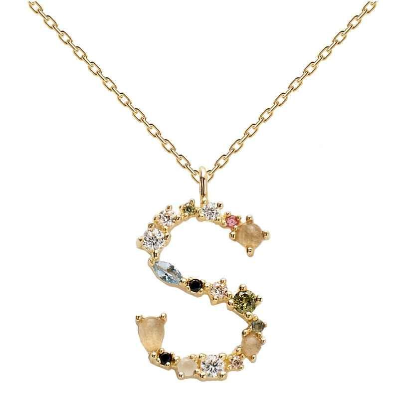 P D Paola CO01-114-U Damen-Halskette Buchstabe S 8435511709548