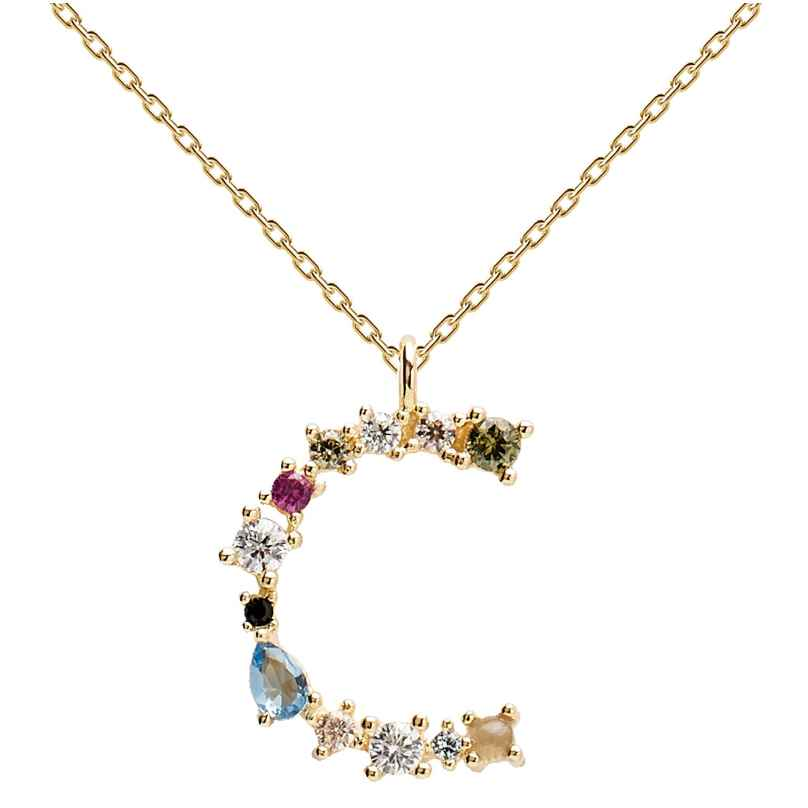 P D Paola CO01-098-U Damen-Halskette Buchstabe C 8435511709388