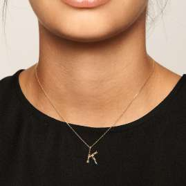 P D Paola CO01-106-U Women's Necklace Letter K