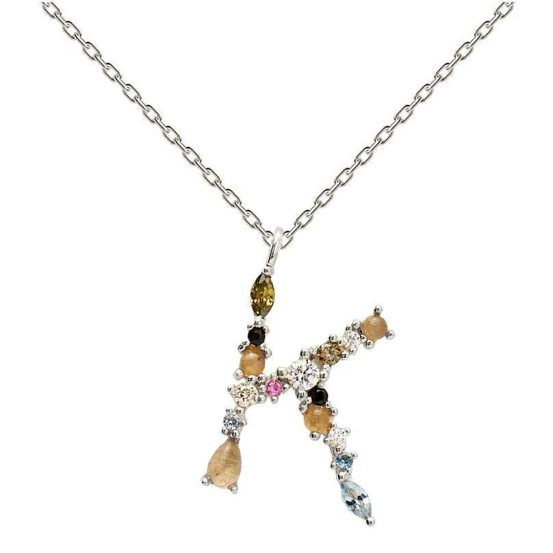 P D Paola CO02-106-U Damen-Halskette Buchstabe K Silber 8435511709968
